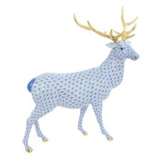 Herend Porcelain Fishnet Figurine of an Elk
